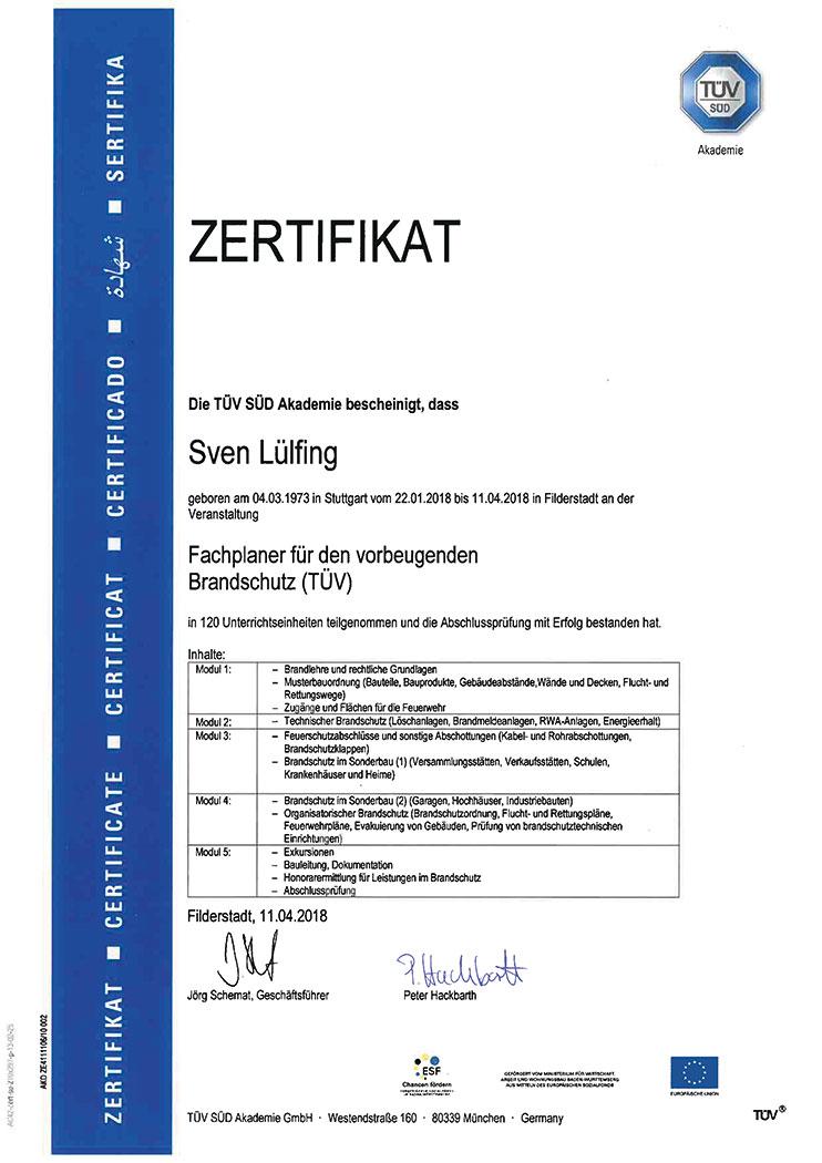 Teldanet GmbH: Unternehmen Zertifikat Brandschutz
